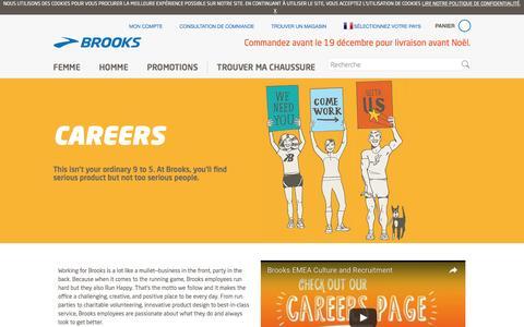Screenshot of Jobs Page brooksrunning.com - Hello Careers Intro Text - captured Dec. 23, 2016