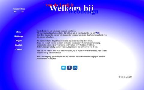 Screenshot of Home Page vandelooij-it.nl - Home - captured Oct. 9, 2014