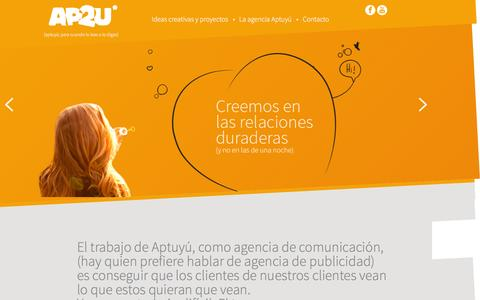 Screenshot of Home Page ap2u.com - AP2U Barcelona | Agencia de Publicidad y Comunicación - captured July 23, 2016