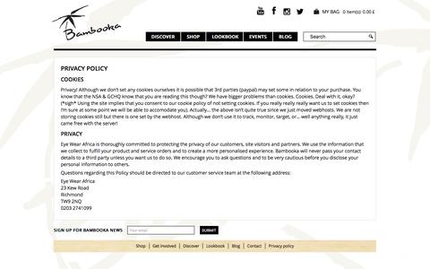 Screenshot of Privacy Page bambooka.org - Privacy Policy   We take your privacy seriously, so find out more. - captured Oct. 9, 2017