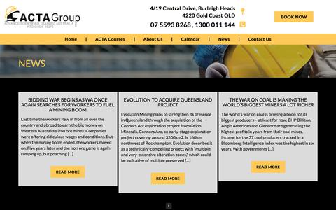Screenshot of Press Page actagroup.com.au - News | ACTAgroup - ACTA Group Australia - captured July 28, 2018