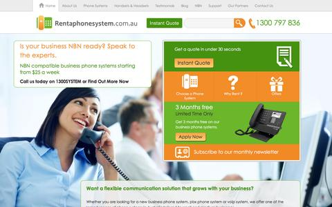 Screenshot of Home Page rentaphonesystem.com.au - Best PBX & Business Phone Systems for Small Business - captured Jan. 15, 2016