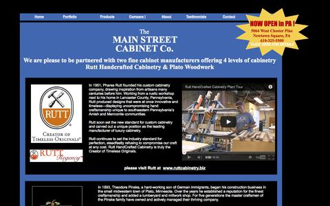 Screenshot of Products Page mainstreetcabinet.com - Products - captured Oct. 6, 2014