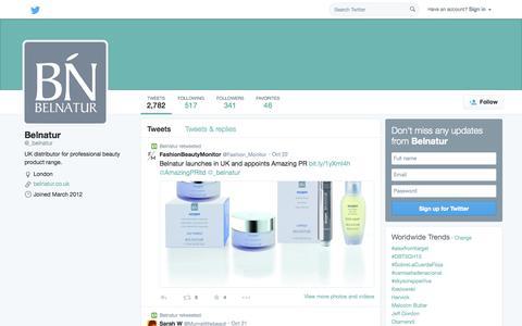 Screenshot of Twitter Page twitter.com - Belnatur (@_belnatur) | Twitter - captured Nov. 3, 2014