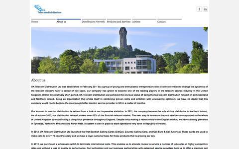 Screenshot of About Page uktelecomdistribution.co.uk - About us  - UK Telecom Distribution LTD - captured Oct. 3, 2014