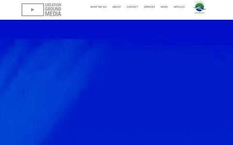 Screenshot of Home Page creationgroundmedia.com - Custom Video Production & Media Production San Jose, CA | Professional Video - captured Dec. 13, 2015