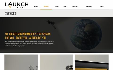 Screenshot of Services Page launchmedia.tv - Services | Launch Media | A Baton Rouge Video Production Company - captured May 15, 2017