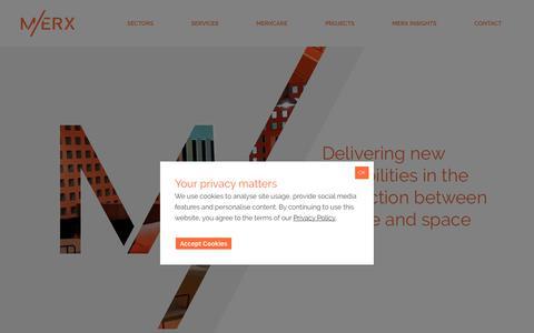 Screenshot of Home Page merxcm.com - Merx Construction Project Management - captured Nov. 15, 2018