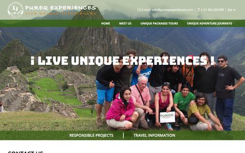 Screenshot of Contact Page pureqexperiences.com - Contact Us - Pureq Experiences - captured Sept. 19, 2017