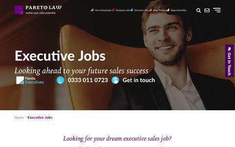 Executive Jobs, Executive Sales Recruitment | Pareto.co.uk
