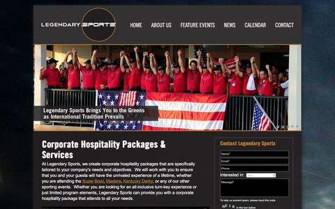 Screenshot of About Page legendarysports.com - Corporate Hospitality Packages   Legendary Sports - captured Dec. 9, 2015