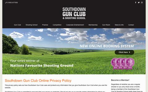 Screenshot of Privacy Page southdowngunclub.co.uk - Southdown Gun Club Online Privacy Policy - Southdown Gun Club - captured Oct. 18, 2018