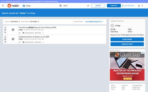 reddit.com: search results - datto