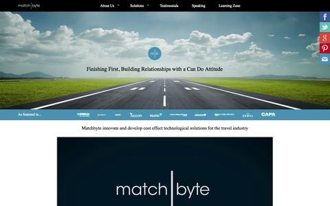 Screenshot of Testimonials Page matchbyte.com - Matchbyte.com - Home - captured Oct. 27, 2014