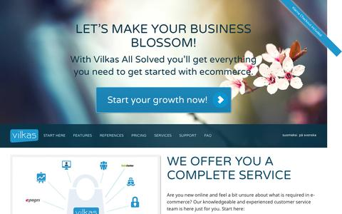 Screenshot of Home Page vilkasgroup.com - Online Ecommerce Solution Provider | Vilkas Group - captured Sept. 4, 2015