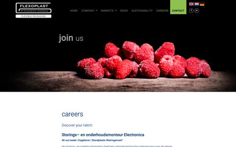 Screenshot of Jobs Page flexoplast.nl - careers - Flexoplast - captured Nov. 16, 2018