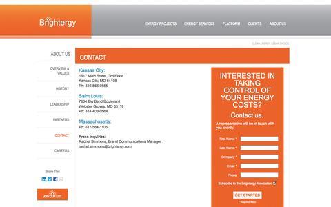 Screenshot of Contact Page brightergy.com - Solar Installer Contact and Locations | Brightergy.com | Brightergy - captured Nov. 3, 2014