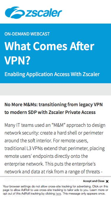 What Comes After VPN   Zscaler