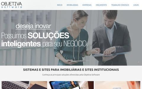 Screenshot of Home Page objetivasoftware.com.br - Site para imobiliárias e sites institucionais   Objetiva Software - captured June 26, 2016