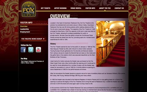Screenshot of About Page foxrwc.com - Overview - captured Oct. 1, 2014
