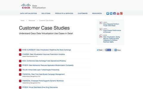 Screenshot of Case Studies Page compositesw.com - Data Virtualization Case Studies | Cisco - captured Oct. 10, 2014
