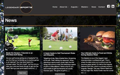 Screenshot of Press Page legendarysports.com - News | - captured July 18, 2018