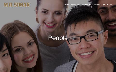 Screenshot of Team Page mrsimak.com - People - captured Nov. 11, 2018