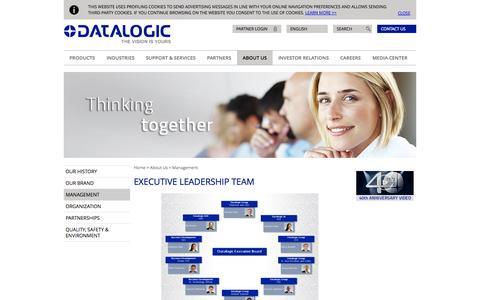 Screenshot of Team Page datalogic.com - Executive Leadership Team   Datalogic Spa - captured Sept. 19, 2014