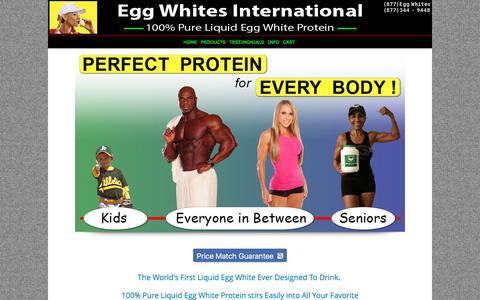 Screenshot of Home Page eggwhitesint.com - Egg Whites International - 100% All Natural Pure Liquid Egg Whites | EGG WHITES INTERNATIONAL, LLC. - captured Oct. 28, 2016
