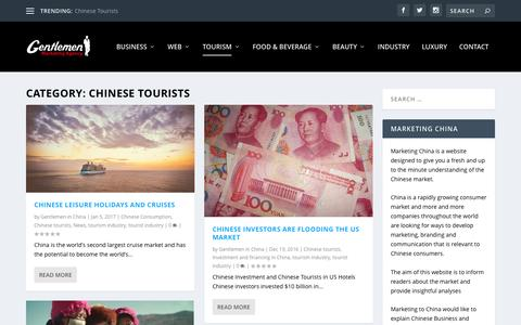 Chinese tourists Archives - Marketing China