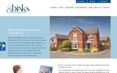 Screenshot of Developers Page binksweb.com - Residential Development Consultancy | Binks Estate Agents in Chorleywood and Amersham< - captured Oct. 10, 2017