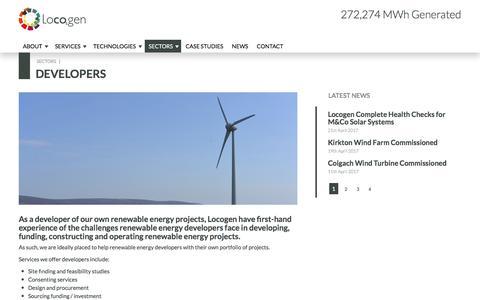 Screenshot of Developers Page locogen.com - Developers | Locogen - captured May 21, 2017