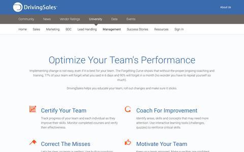 Screenshot of Team Page drivingsales.com - Automotive Management Training - DrivingSales University - captured Jan. 27, 2017