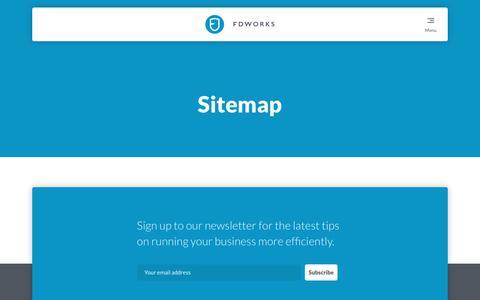 Screenshot of Site Map Page fd-works.co.uk - Sitemap - FD works - FD works - captured June 5, 2017