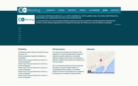 Screenshot of Blog caiworking.com - Blog Archives » CAI Working - captured Sept. 26, 2014