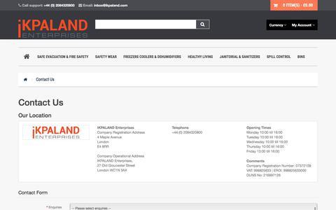 Screenshot of Contact Page ikpaland.com - Contact Us - captured June 29, 2017