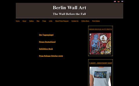 Screenshot of Press Page berlinwallart.com - Berlin Wall Art - Press - captured May 21, 2016
