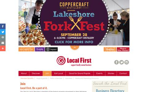 Screenshot of Signup Page localfirst.com - Yes to Local | Local First - captured Aug. 31, 2017