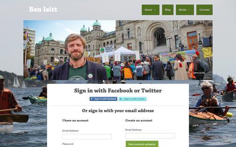 Screenshot of Login Page nationbuilder.com - Sign in - captured April 10, 2017