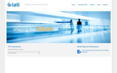 Screenshot of Home Page iati.com - IATI | Shaping The Future Of Tourism - captured Dec. 19, 2017