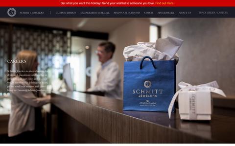 Screenshot of Jobs Page schmittjewelers.com - Careers - Schmitt Jewelers - captured Dec. 9, 2018