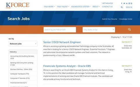 Kforce - Search Jobs