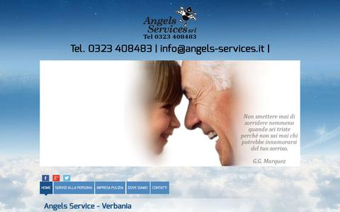 Screenshot of Home Page angels-services.biz - Angels Services - Verbania - Servizi alle Persone 24 ore - captured April 22, 2018