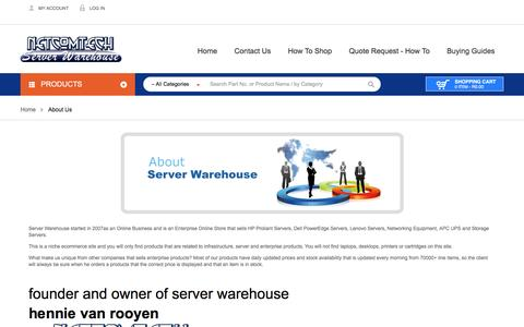 Screenshot of About Page server-warehouse.co.za - About Server Warehouse - captured May 26, 2017