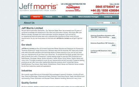 Screenshot of About Page jeffmorrislimited.co.uk - About Us | Jeff Morris Limited - captured Sept. 30, 2014