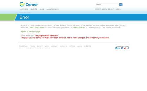 Error: Cerner.com