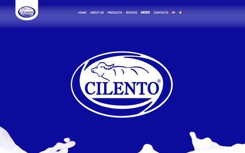 Screenshot of Press Page cilentospa.it - NEWS - Cilento - captured Sept. 23, 2018