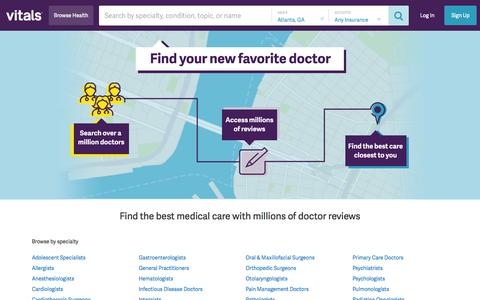 Vitals - Find a Doctor, Doctor Reviews & Ratings