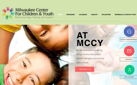 Screenshot of Home Page mccy.org - mccy - captured Dec. 20, 2018
