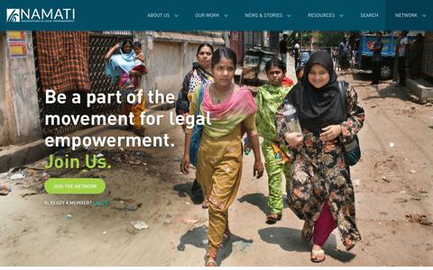 Screenshot of Signup Page namati.org - Global Legal Empowerment Network - captured Dec. 1, 2016